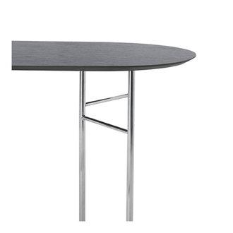 ferm LIVING Mingle tafelblad ovaal zwart veneer - 150 cm