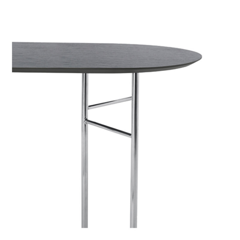 ferm LIVING-collectie Mingle Table Top Oval 150 Veneer - Black
