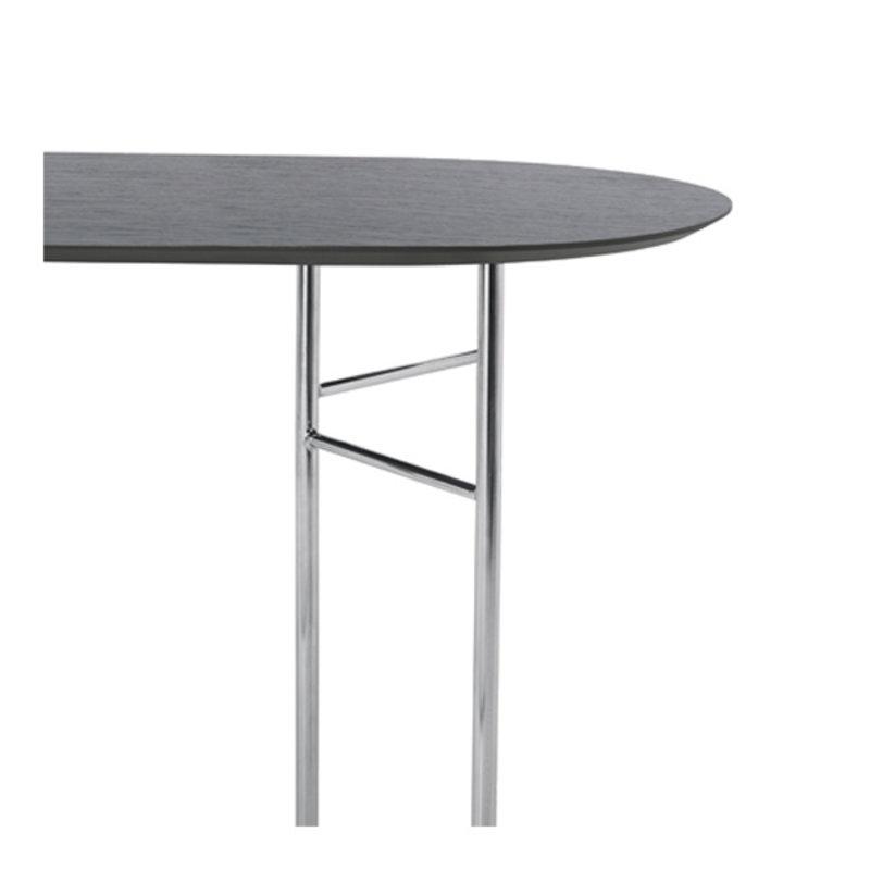 ferm LIVING-collectie Mingle tafelblad ovaal zwart veneer - 150 cm