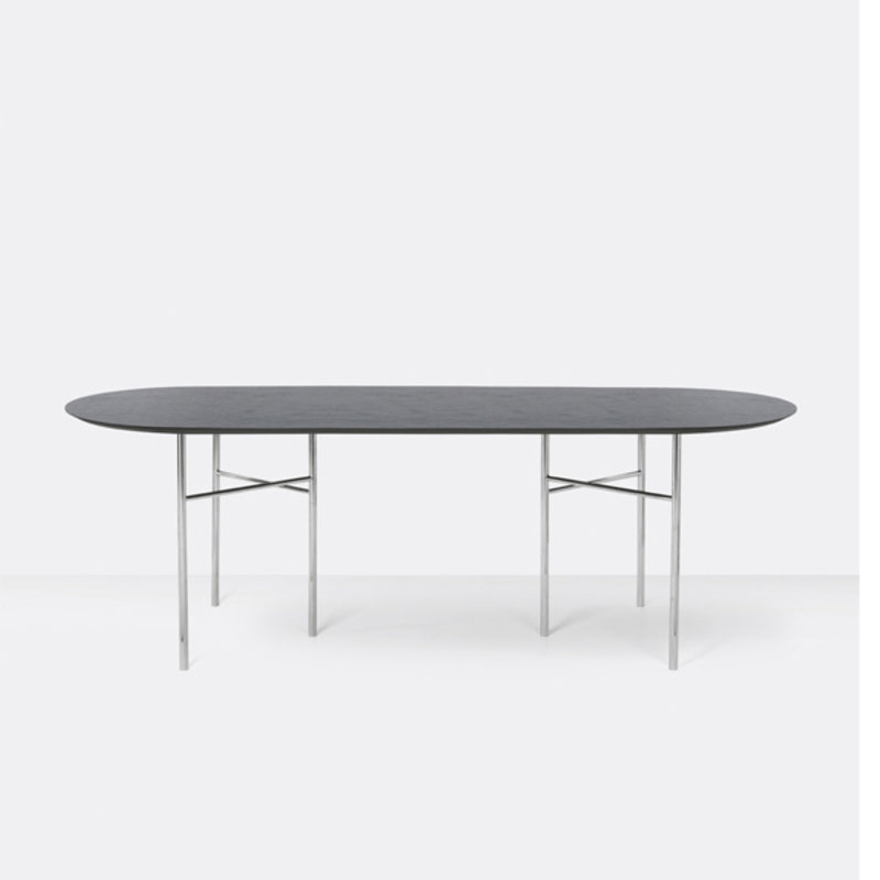 ferm LIVING-collectie Mingle Table Top Oval 220 Veneer - Black