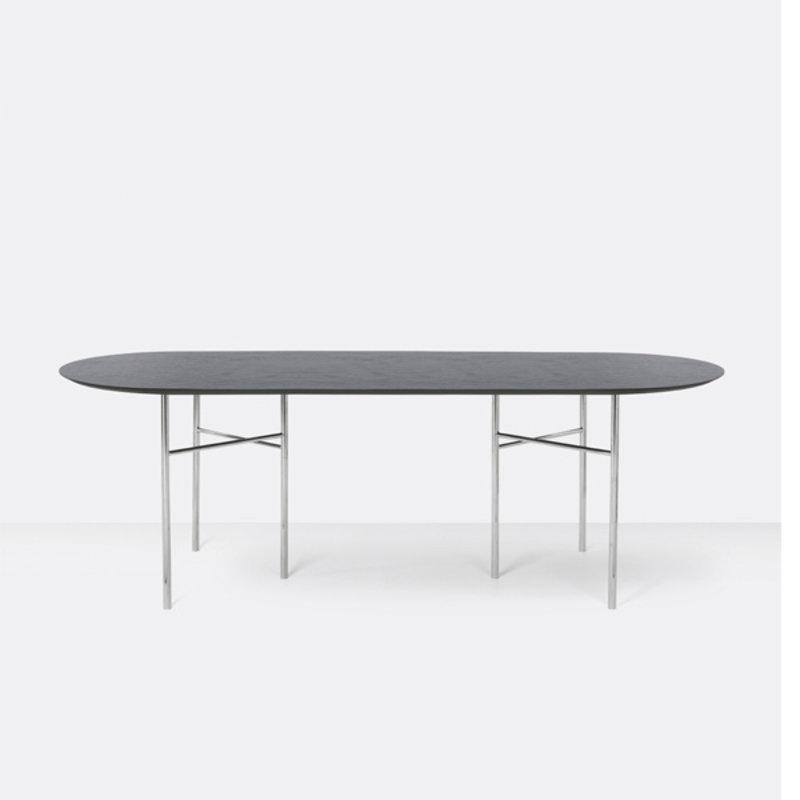 ferm LIVING-collectie Mingle tafelblad ovaal zwart veneer - 220 cm