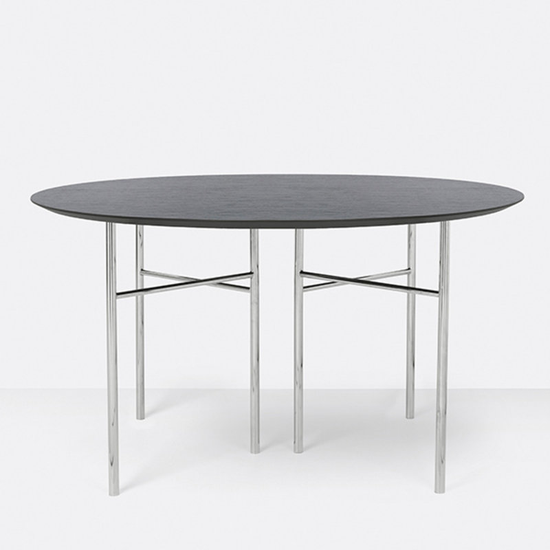 ferm LIVING-collectie Mingle Table Top Round Ø130 Veneer Black