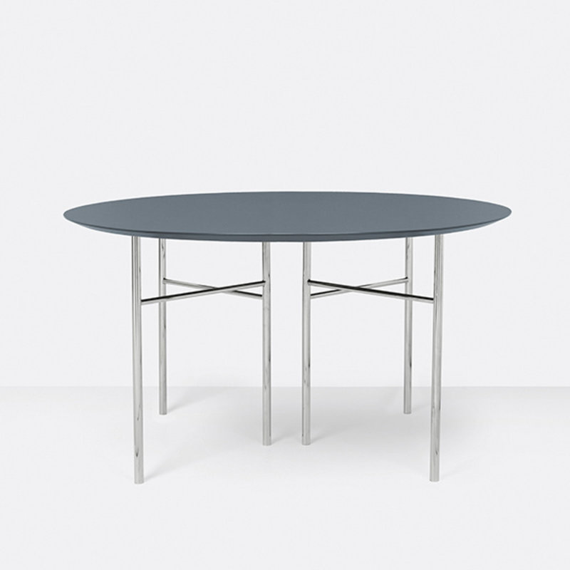 ferm LIVING-collectie Mingle Table Top Round Ø130 Lino Dus Blu