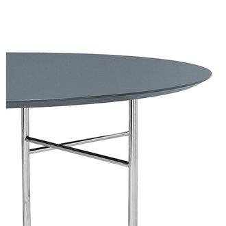 ferm LIVING Mingle tafelblad rond Lino Dusty Blue - 130 cm