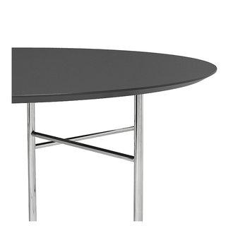 ferm LIVING Mingle tafelblad rond Lino Charcoal - 130 cm