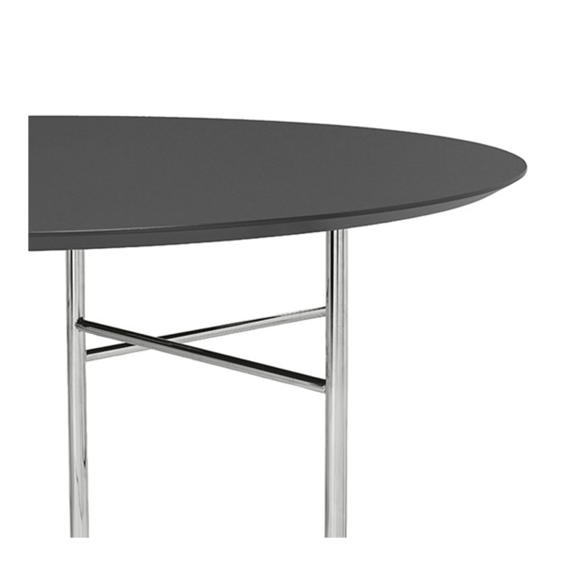 ferm LIVING-collectie Mingle tafelblad rond Lino Charcoal - 130 cm