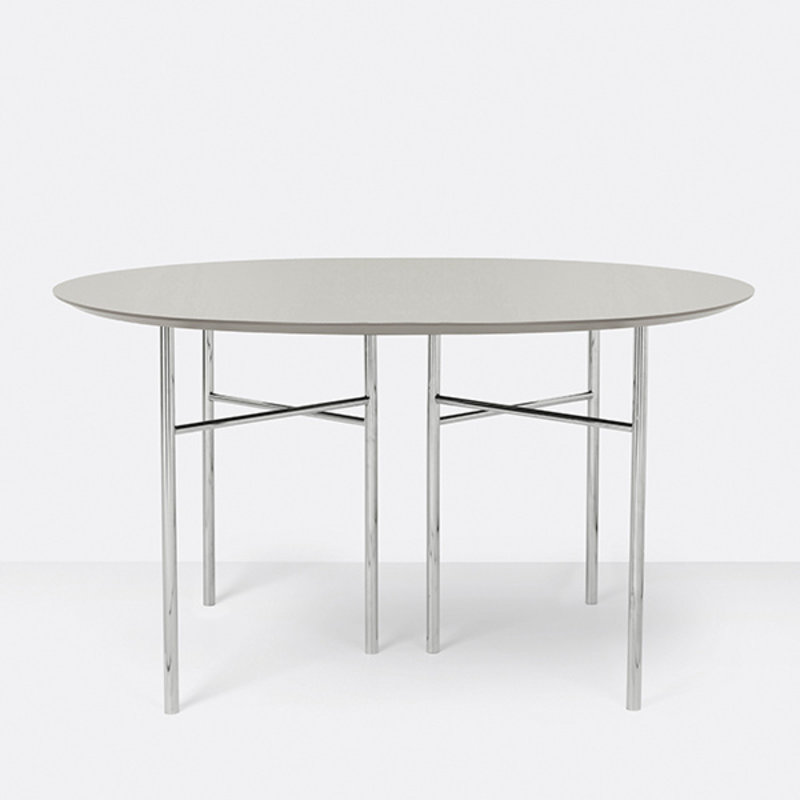 ferm LIVING-collectie Mingle Table Top Round Ø130 Lino Lg Grey
