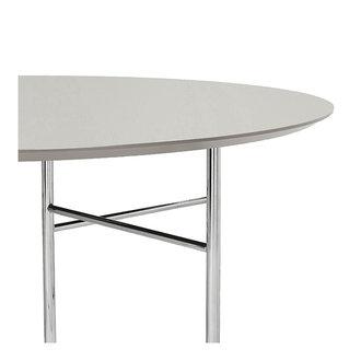 ferm LIVING Mingle tafelblad rond Lino lichtgrijs - 130 cm