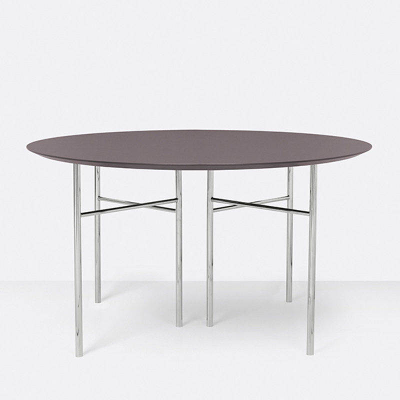 ferm LIVING-collectie Mingle tafelblad rond lino taupe - 130 cm
