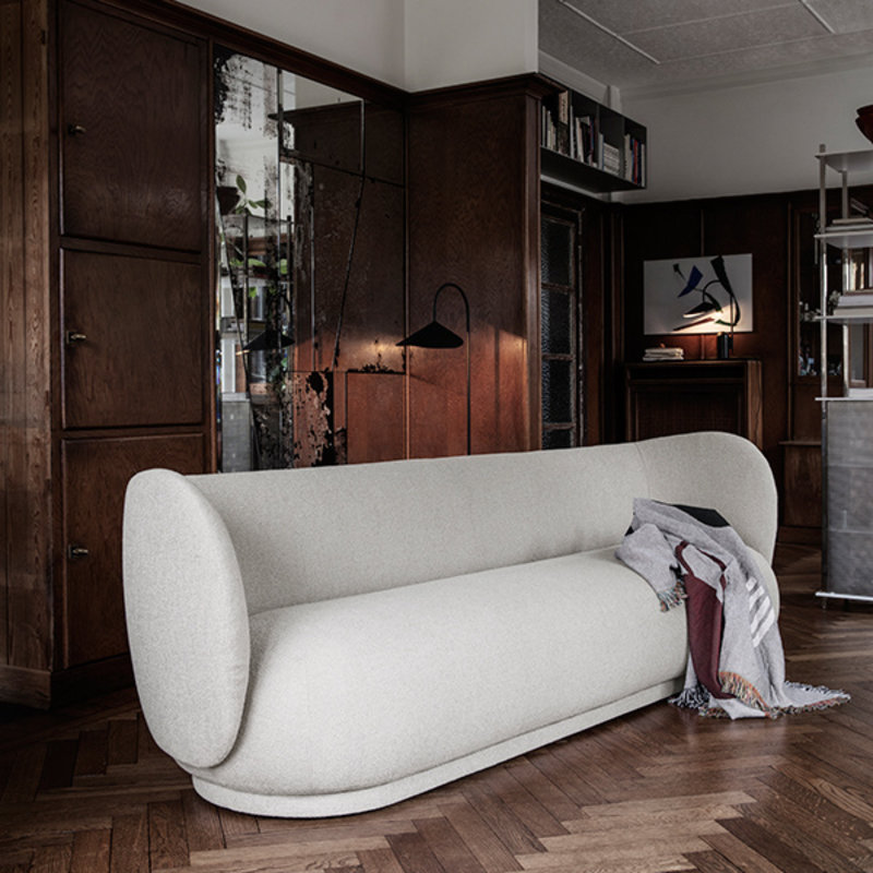 ferm LIVING-collectie Rico 3-Seater Boucle - Off-White