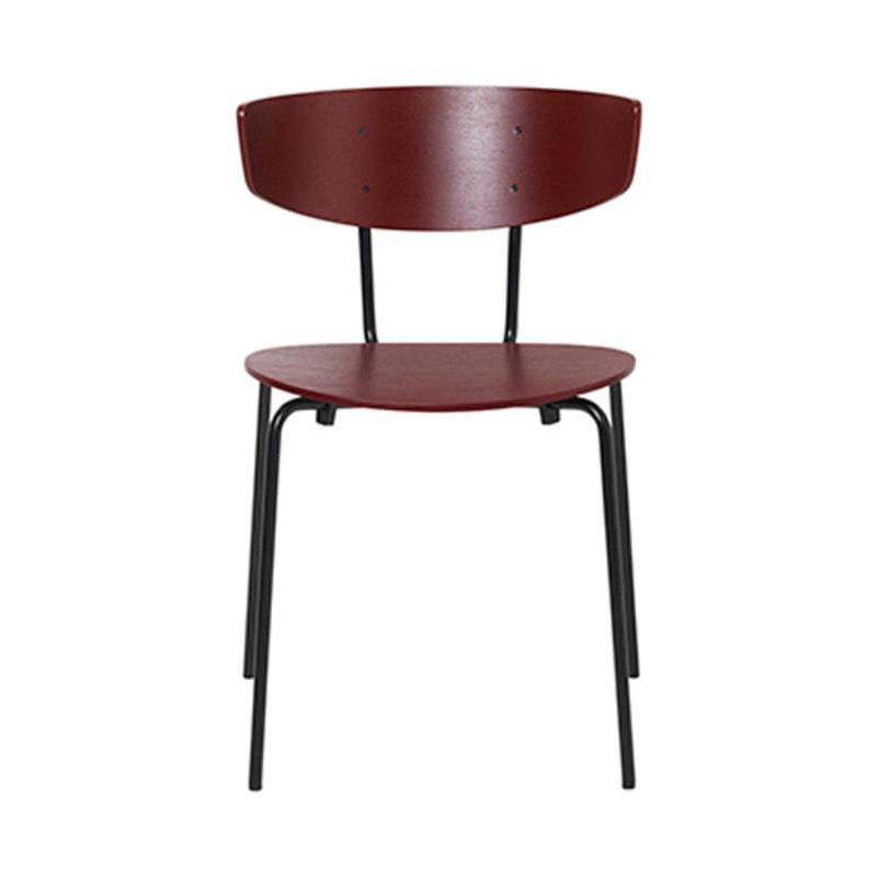 ferm LIVING-collectie Stoel Herman rood bruin