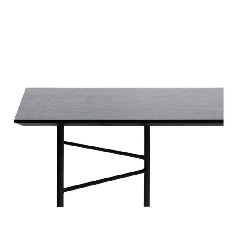 ferm LIVING-collectie Mingle tafelblad 210 cm - zwart veneer