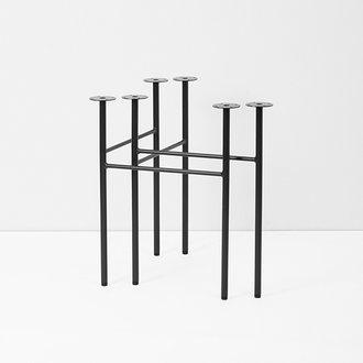 ferm LIVING Mingle Table Legs W68 - Black (Set of 2)