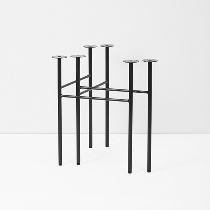 ferm LIVING-collectie Mingle Table Legs W68 - Black (Set of 2)