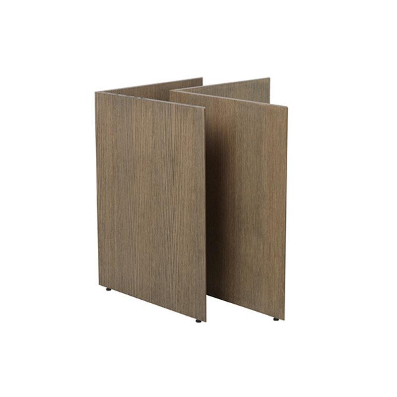 ferm LIVING-collectie Mingle Wooden Table Legs W68 - Dark Stain oak