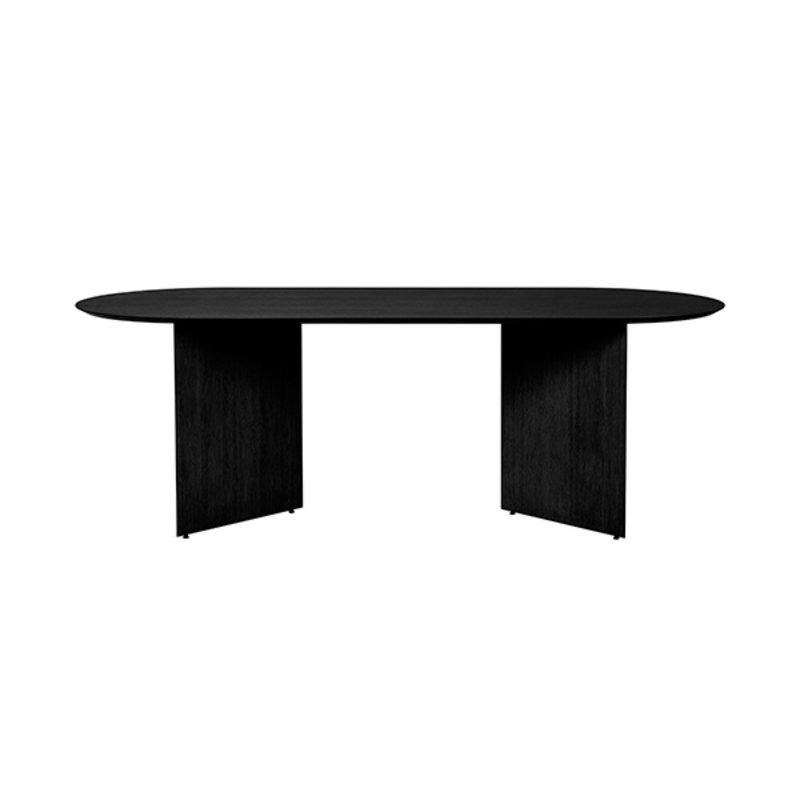 ferm LIVING-collectie Mingle Wooden Table Legs W48 - Black Veneer