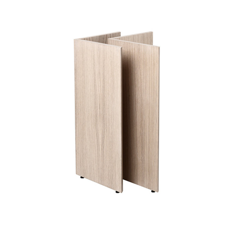 ferm LIVING-collectie Mingle Wooden Table Legs W48 - Natural Oak veneer