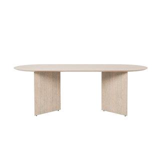 ferm LIVING Mingle tafelblad ovaal naturel eiken veneer  150 cm