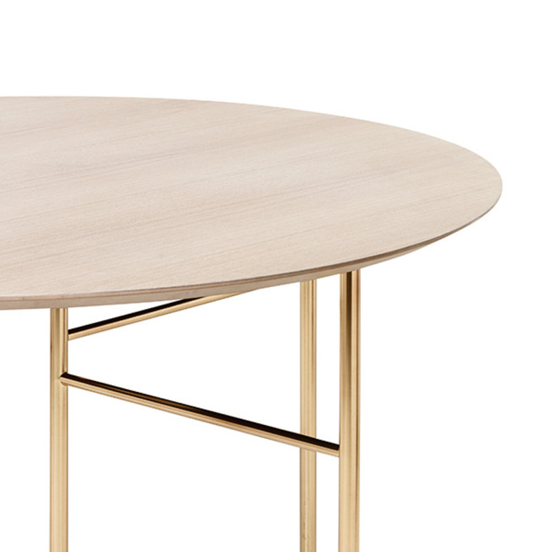 ferm LIVING-collectie Mingle tafelblad rond naturel eiken veneer  130 cm