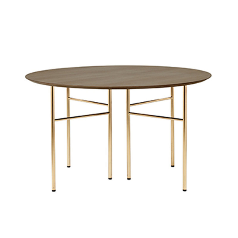 ferm LIVING-collectie Mingle Table Top Round Ø130 - Dark Stain oak