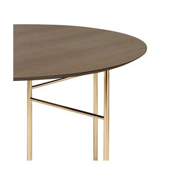 ferm LIVING Mingle tafelblad rond donker gebrand eiken 130 cm