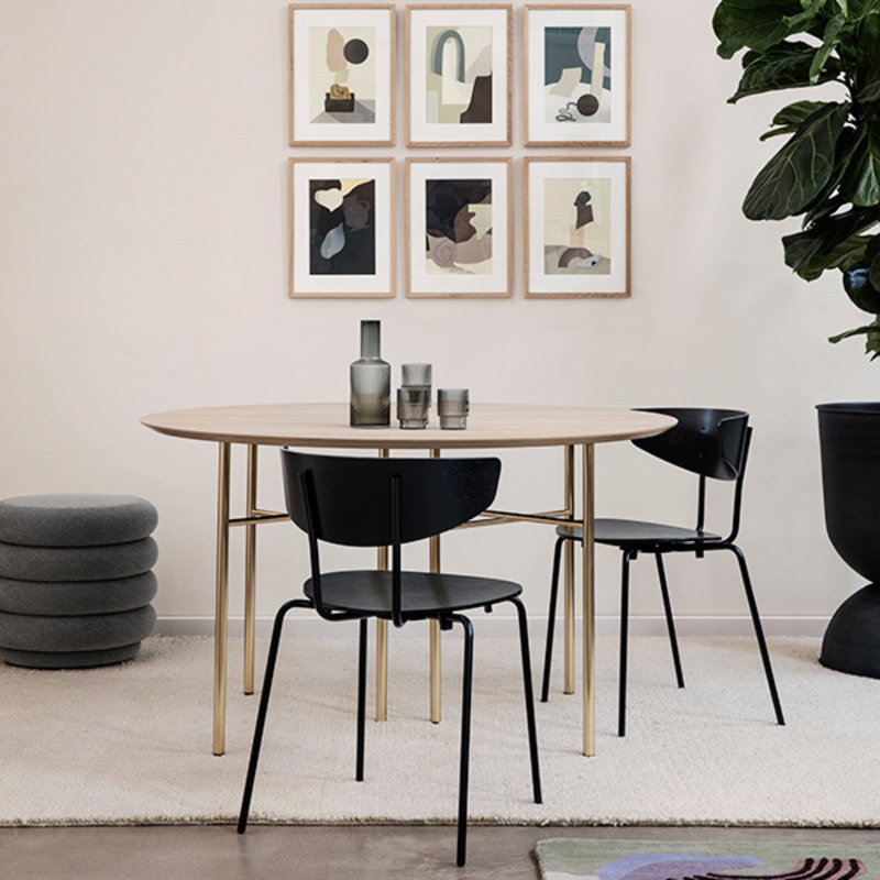 ferm LIVING-collectie Mingle Table Top Round Ø130 - Natural Oak veneer