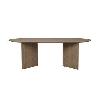 ferm LIVING Mingle tafelblad ovaal donker gebrand eiken 220 cm
