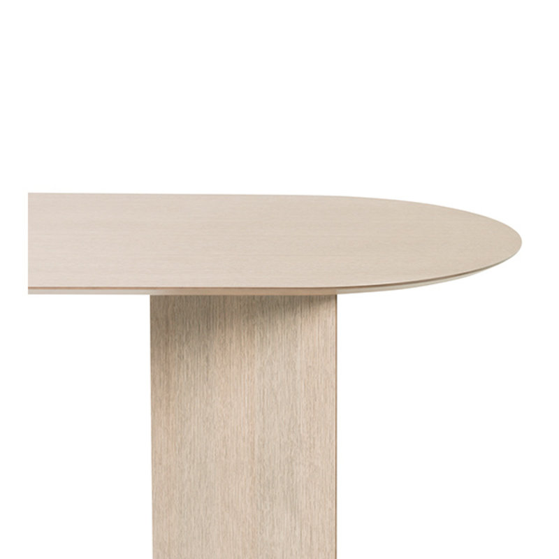 ferm LIVING-collectie Mingle tafelblad ovaal natural eiken veneer 220 cm