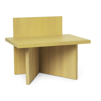 ferm LIVING Oblique Stool - Yellow Stained Ash
