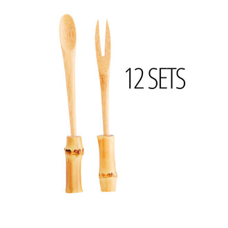 Madam Stoltz Bamboo spoon and fork