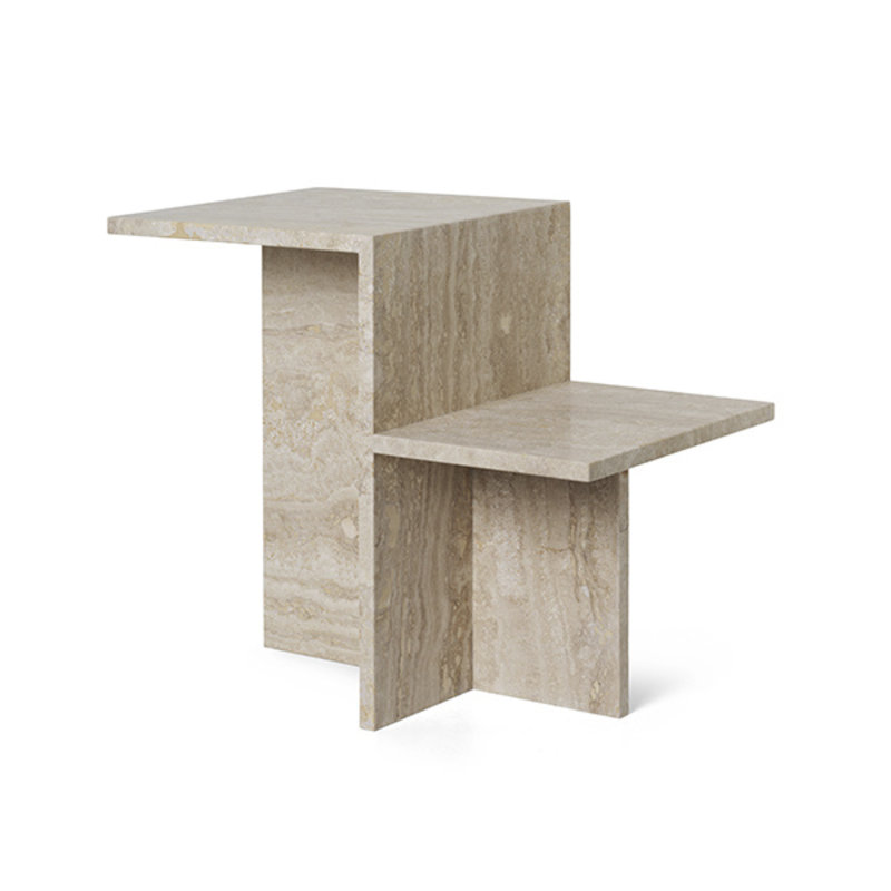 ferm LIVING-collectie Sidetable Distinct Travertine