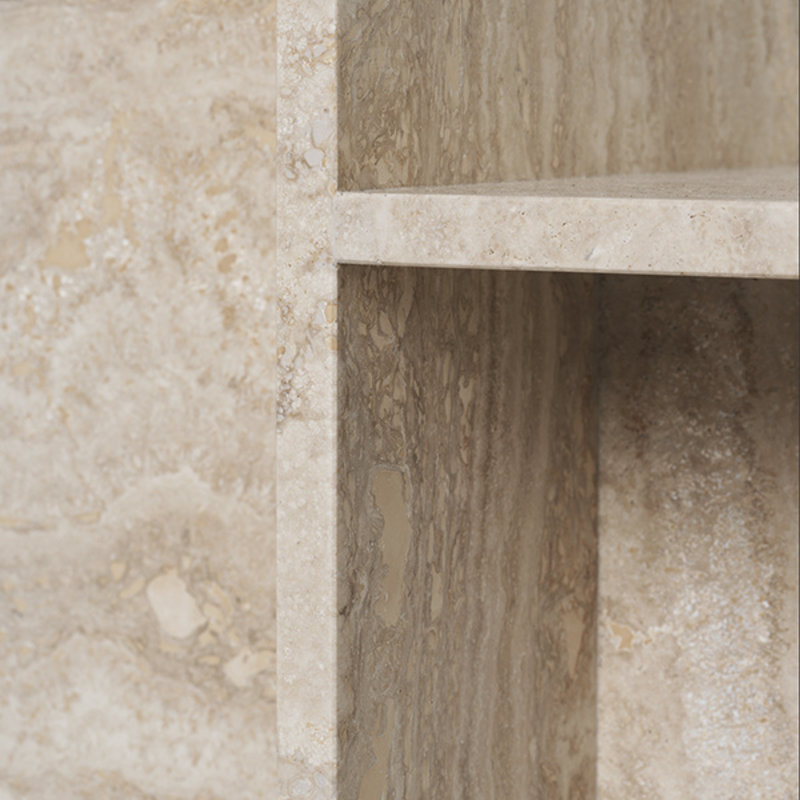 ferm LIVING-collectie Distinct Side Table - Travertine
