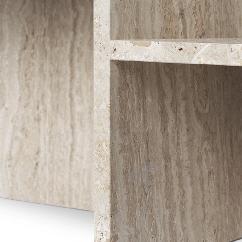 ferm LIVING-collectie Distinct Coffee Table - Travertine