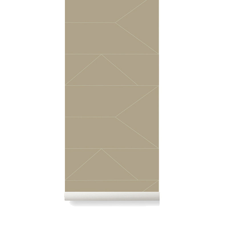 ferm LIVING-collectie Lines Wallpaper - Cashmere