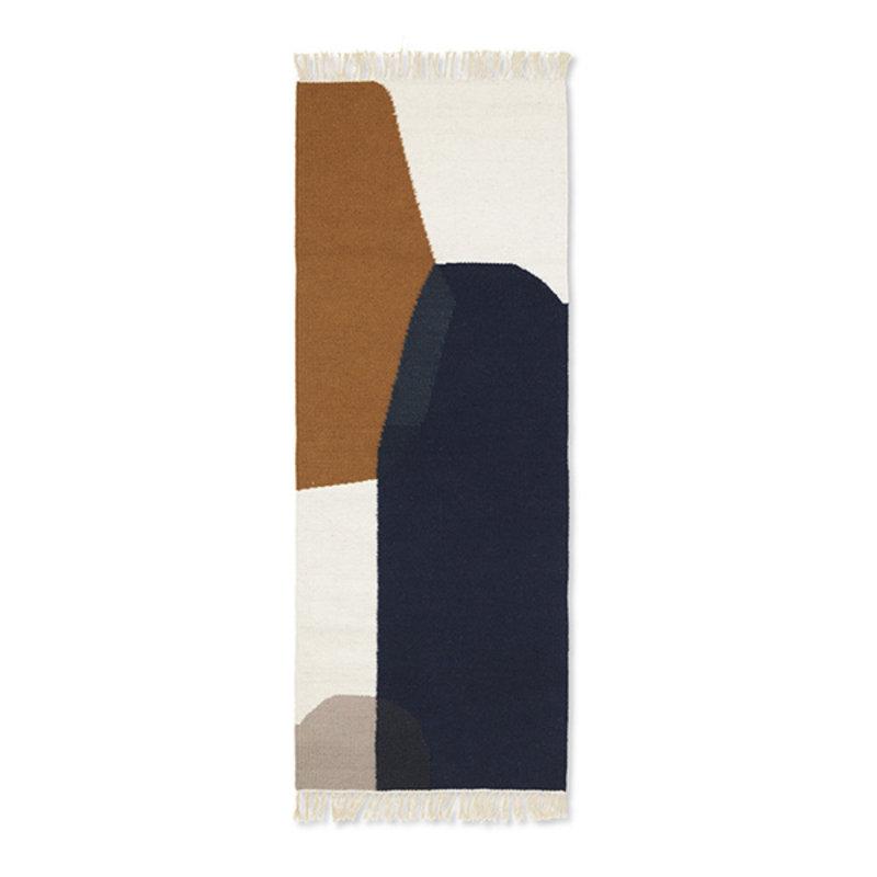 ferm LIVING-collectie Kelim loper Merge 180x70cm