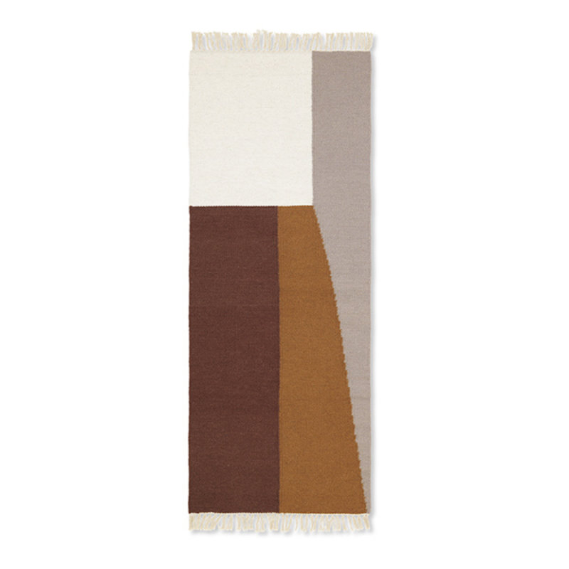 ferm LIVING-collectie Kelim loper Borders 180x70cm