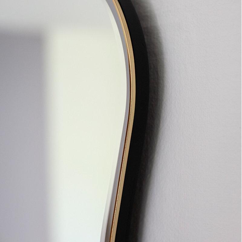 ferm LIVING-collectie Spiegel Pond large zwart