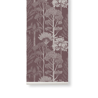 ferm LIVING Katie Scott behang  Trees Mahogany