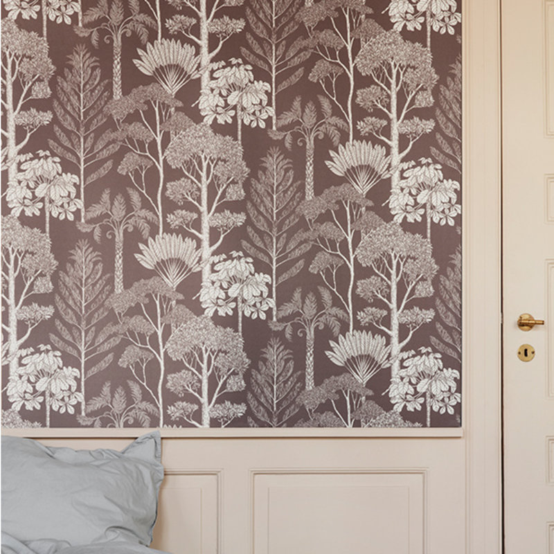 ferm LIVING-collectie Katie Scott Wallpaper - Trees - Mahogany
