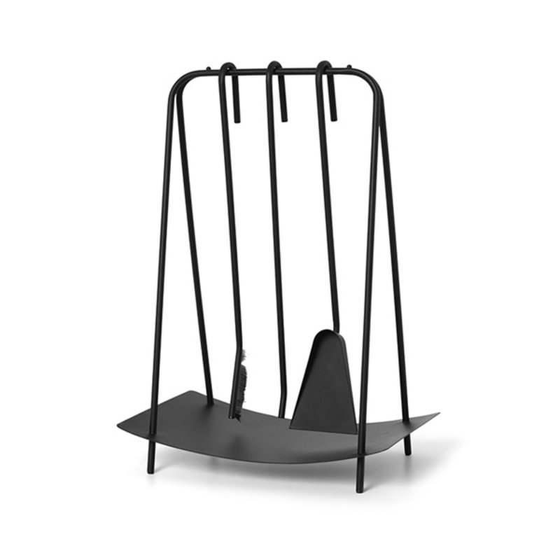 ferm LIVING-collectie Port Fireplace Tools - Black
