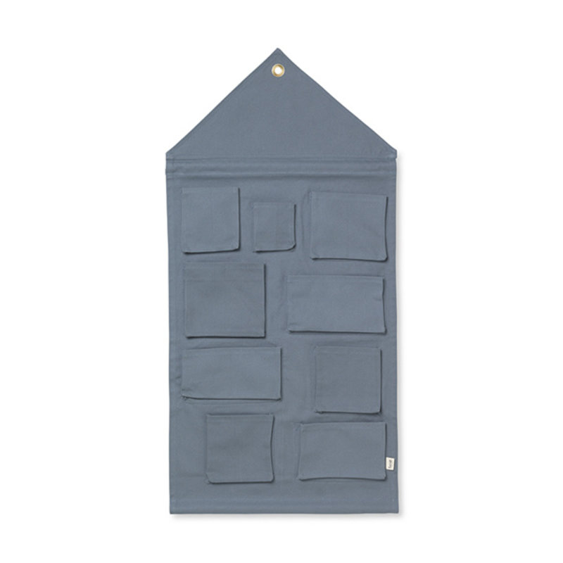ferm LIVING-collectie House Wall Storage - Dusty Blue