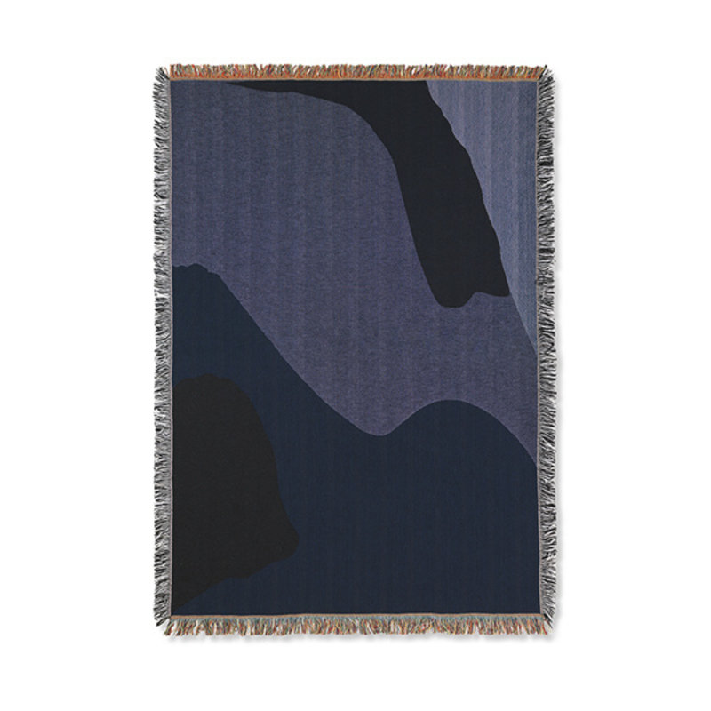 ferm LIVING-collectie Vista Blanket - Dark Blue
