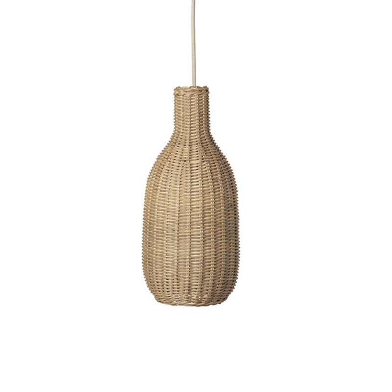 ferm LIVING-collectie Braided Bottle Lamp Shade - Natural