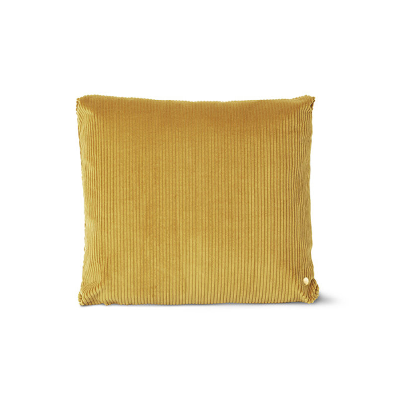 ferm LIVING-collectie Corduroy Cushion - 45 x 45 - Mustard