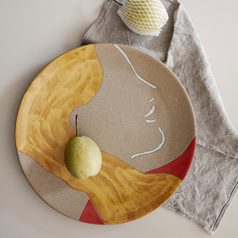 ferm LIVING-collectie Mira Ceramic Platter - Multi