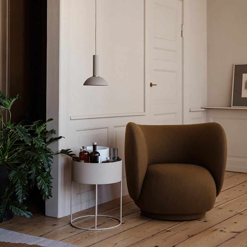 ferm LIVING-collectie Plant box rond cashmere