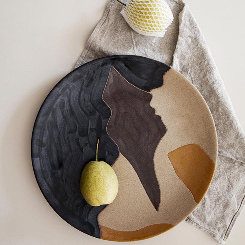 ferm LIVING-collectie Keramiek bord Aya