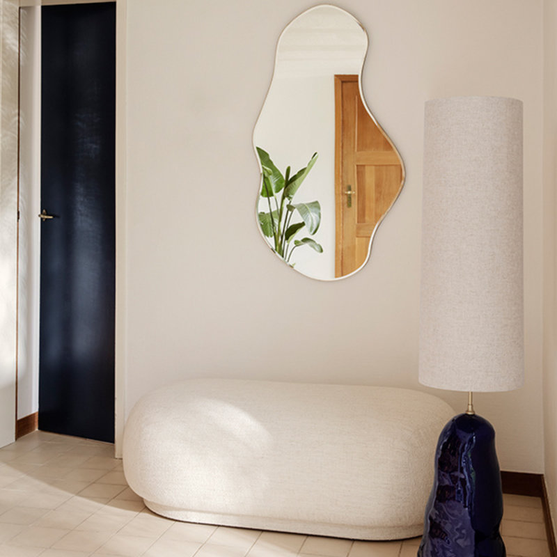 ferm LIVING-collectie Pond Mirror - Large - Black