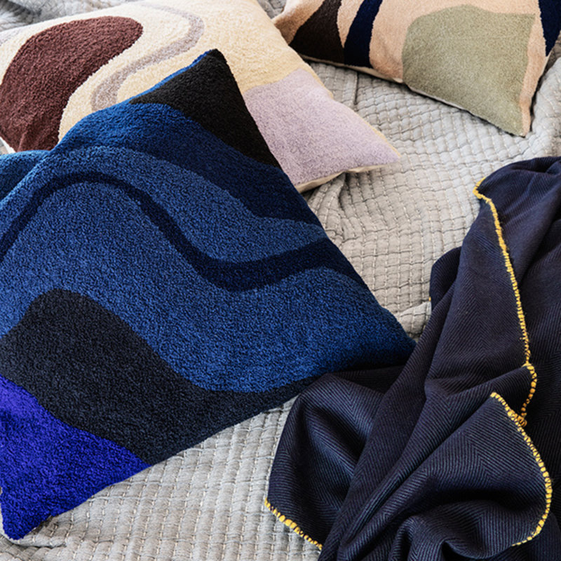 ferm LIVING-collectie Vista Cushion - Dark Blue