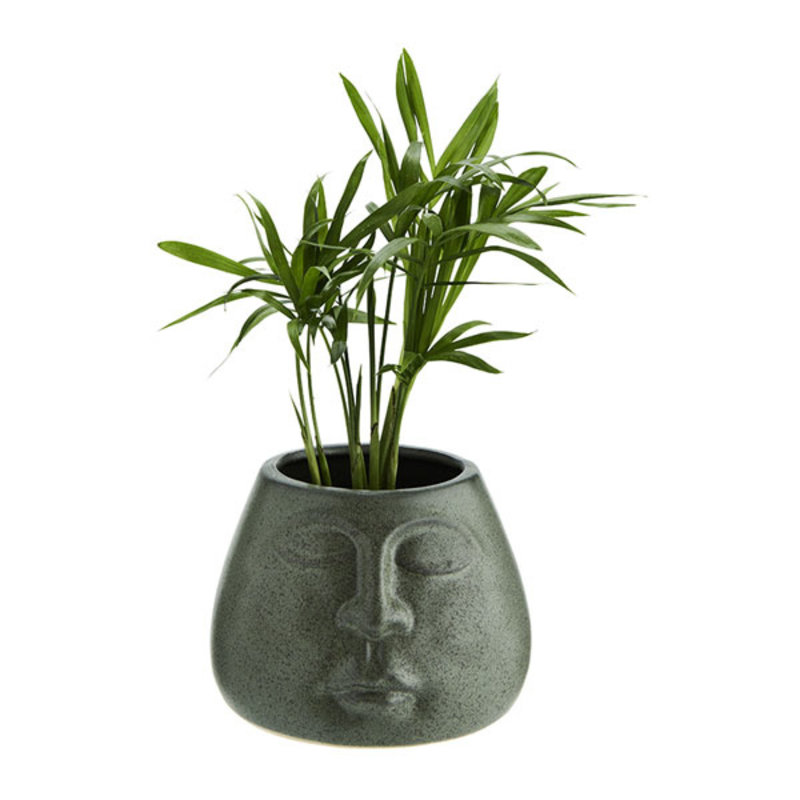 Madam Stoltz-collectie Flower pot w/ face imprint